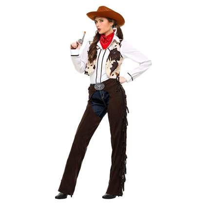 women's cowgirl costume with chaps