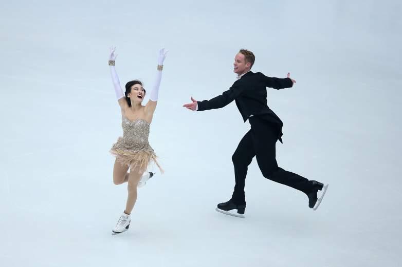 Madison Chock, Evan Bates, ice dancing, ice dancing Olympics, Madison Chock costumes