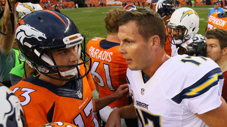 denver broncos, san diego chargers, what time, start, when, who plays