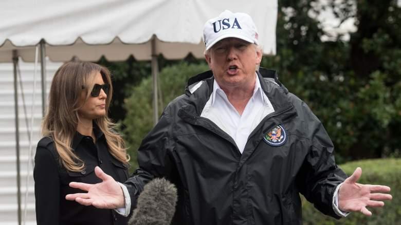 Donald Trump Irma visit, Donald Trump photos today, Melania Trump Florida
