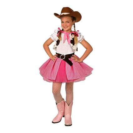 pink and white gingham cowgirl costume