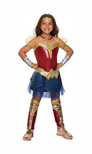 rubie's justice league childs wonder woman premium costume, wonder woman costume, wonder woman cosplay, wonder woman costume kids