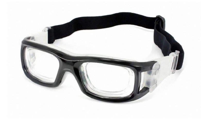 Mens Sports protective eyewear Rx safety wrap goggles glass basketball football