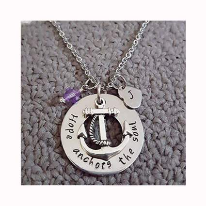 hope anchors the soul silver pendant