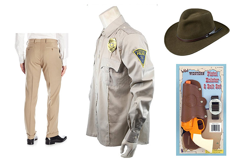 Sheriff shirt toy gun and hat