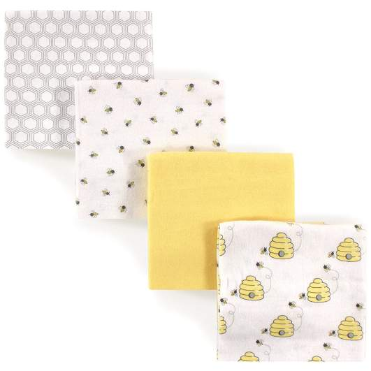 Hudson Baby Flannel Receiving Blankets (Bee Hives), receiving blanket, best baby blanket, baby blanket, yellow baby blanket, beehive baby blanket, gender neutral baby blanket, soft baby blanket, affordable baby blanket, cute baby blanket