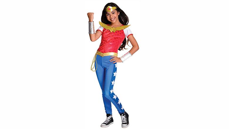 rubie's dc superhero girls deluxe wonder woman costume, wonder woman costume, wonder woman cosplay, wonder woman costume kids