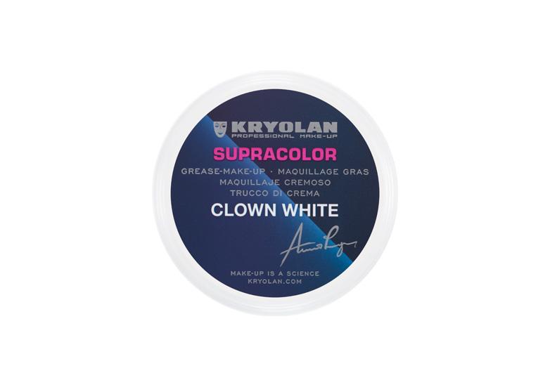 pot of white clown face makeup