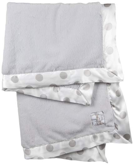 Little Giraffe Luxe New Dot Baby Blanket, gray baby blanket, silver baby blanket, soft baby blanket, baby blanket, best baby blanket, polka dot baby blanket, receiving blanket