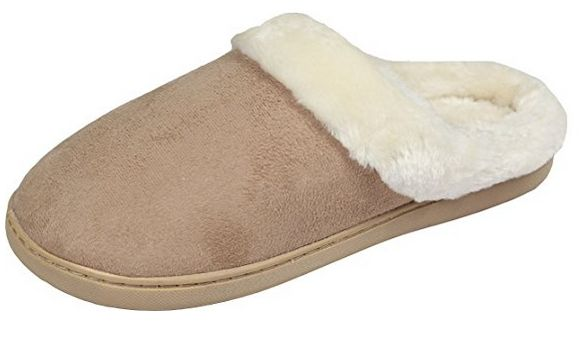 Luxehome Women's Cozy Fleece House Slippers, slippers, house slippers, best house slippers, best slippers, best slippers for hospital bag, best slippers for labor, hospital bag, labor bag, must-have items for hospital bag, cozy slippers