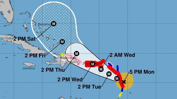 Hurricane Maria Category 4, Hurricane Maria track, Hurricane Maria Path