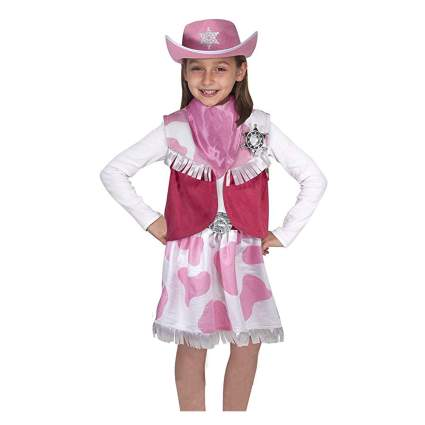 pink cow print cowgirl costume