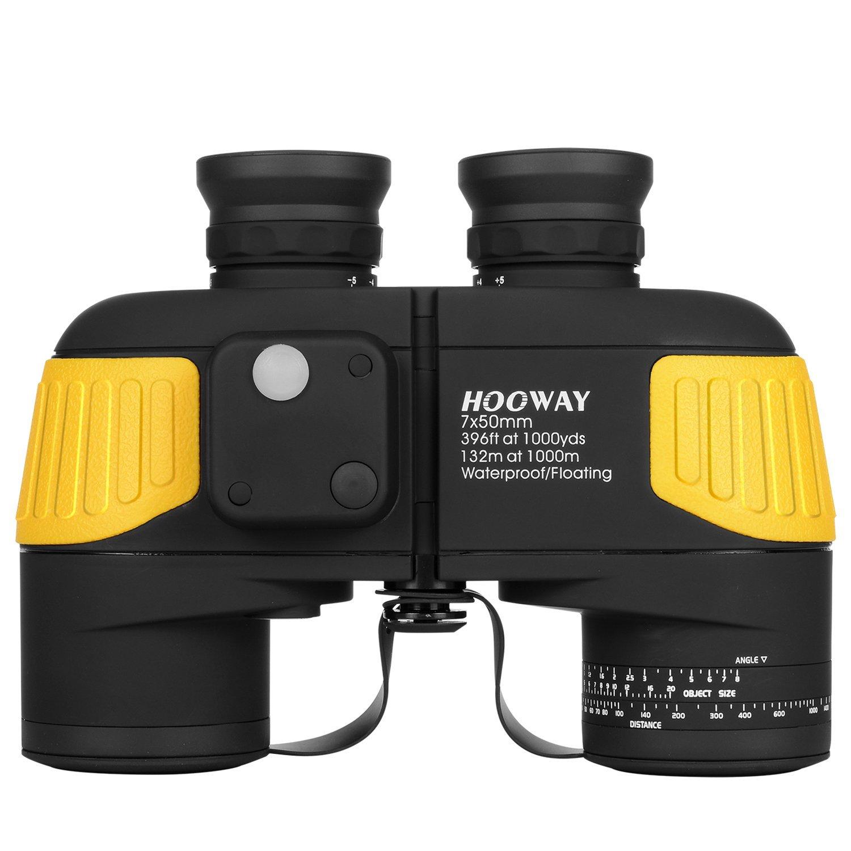 hooway, binoculars, marine binoculars, boating, hunting
