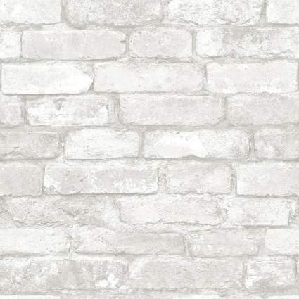 nuwallpaper brewster brick peel and stick wallpaper
