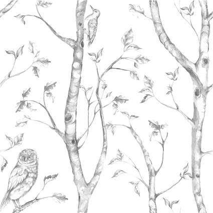 peel and stick wallpaper, woodsy wallpaper, removable wallpaper