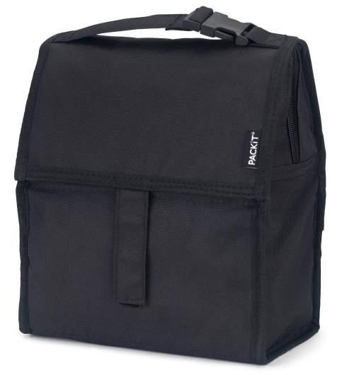 PackIt Freezable Lunch Bag with Zip Closure (Black), best breastmilk coolers, breastmilk coolers, best breastmilk storage, breastmilk storage, soft sided breastmilk cooler