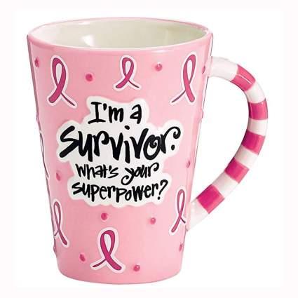 I'm a Survivor pink ribbon coffee mug