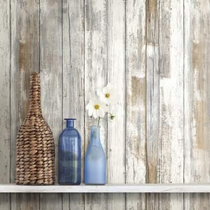 peel and stick wallpaper, wood wallpaper, removable wallpaper