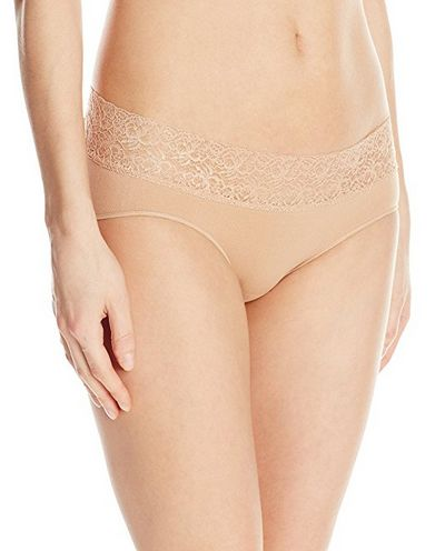 Rosie Pope Seamless Maternity Hipster Panty with Lace, best maternity underwear, maternity underwear, best maternity panties, maternity panties, nude maternity panties, neutral maternity panties, lace maternity panties, cute maternity panties, sexy maternity panties