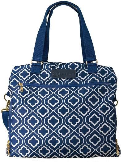 Sarah Wells Lizzy Breast Pump Bag (Navy), best breastmilk coolers, breastmilk coolers, best breastmilk storage, breastmilk storage, diaper bag breastmilk storage, cute breastmilk cooler