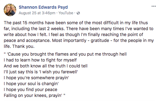 Shannon Edwards Facebook page