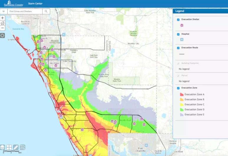 Sarasota evacuation route