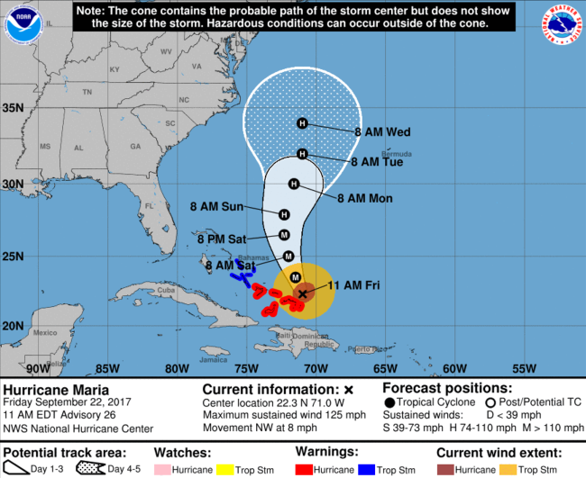 Where is Hurricane Maria right now?