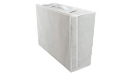 HANGERWORLD Medium White Wedding Dress Bridal Gown Garment Storage Box and Travel Carry Case
