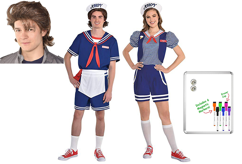 Steve and robin Scoops Ahoy uniforms