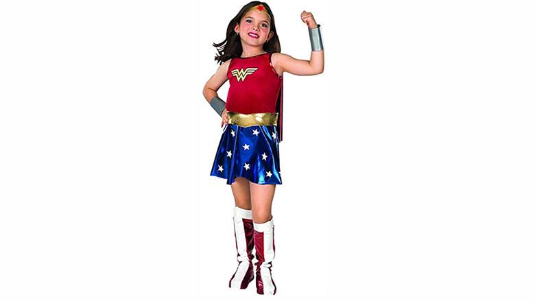 rubie's super dc heroes wonder woman child's costume, wonder woman costume, wonder woman cosplay, wonder woman costume kids