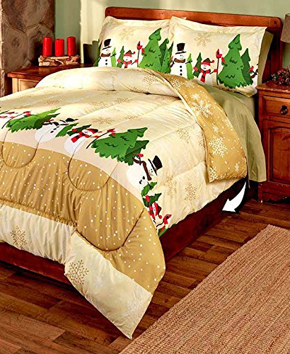 christmas bedding, gold christmas bedding, holiday bedding