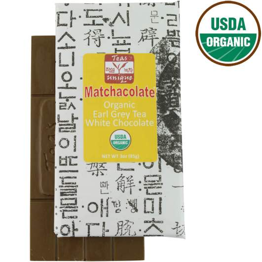 Matchacolate Organic Earl Grey Tea Chocolate Bar
