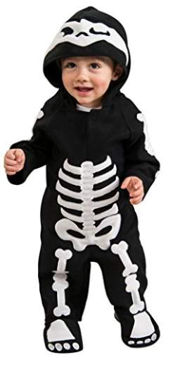 Baby Skeleton Romper Costume