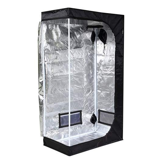 """iPower 36""""x20""""x62"""" Hydroponic Water-Resistant Grow Tent with Removable Floor Tray"""