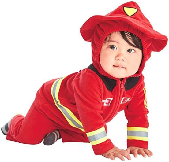 last minute baby costume firefighter