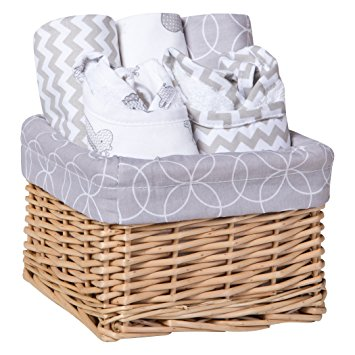 Trend Lab 7 Piece Bib & Burp Feeding Basket Gift Set