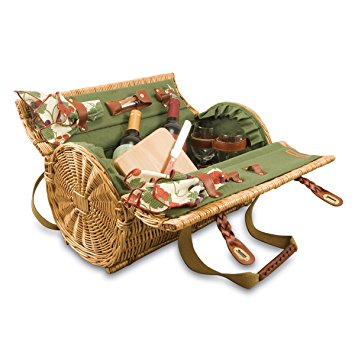 Picnic Time 'Verona' Insulated Wine Basket with Wine/Cheese Service for Two