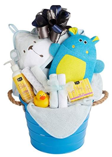 Newborn Baby Boy Bath Basket