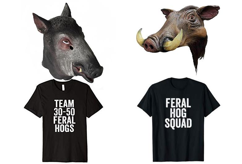Feral hog costumes