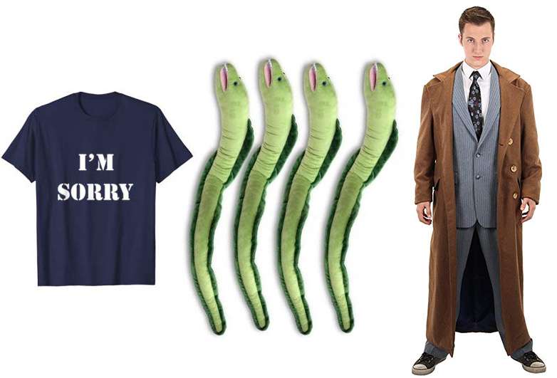 I'm sorry tee shirt with four eels