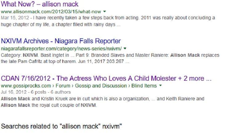 Keith Raniere, Nxivm, branded, branding, Allison Mack, cult