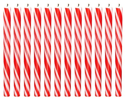 christmas candy cane decorations, candy cane candles