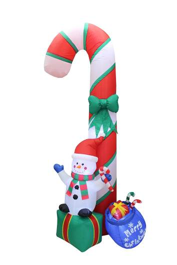 christmas candy cane decorations, inflatable candy cane
