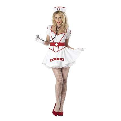 white sexy nurse costume