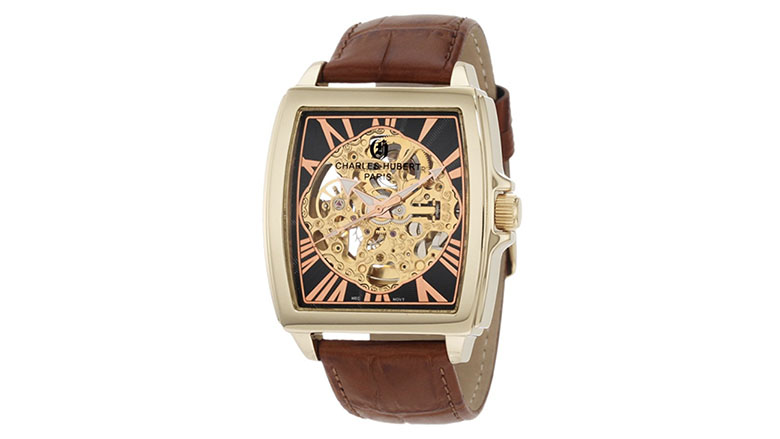 charles-hubert 3888-a gold plated stainless steel automatic watch