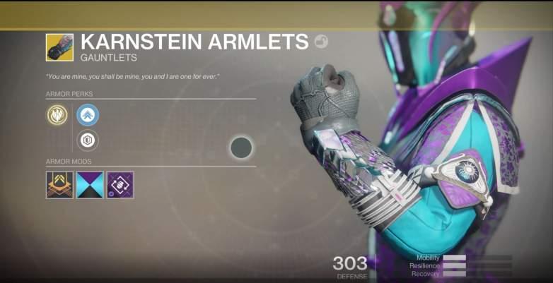 Destiny 2 Karnstein Armlets