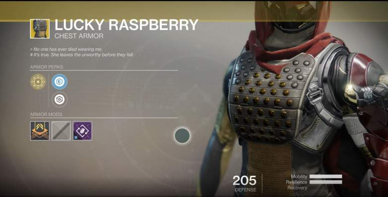 Destiny 2 Lucky Raspberry