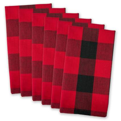 linen napkins, plaid napkins, cotton napkins