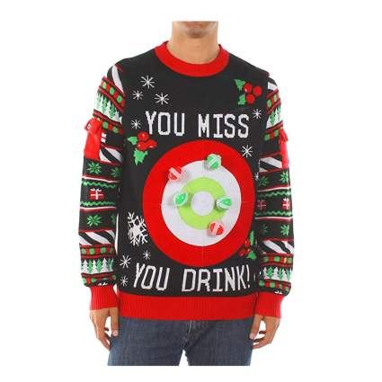 drinking game inappropriate christmas sweater