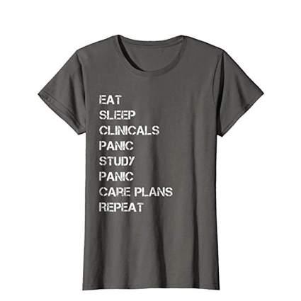 eat sleep clinicals shirt
